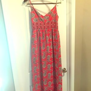 KUT From the Cloth Red Print Maxi Dress. Size 2.